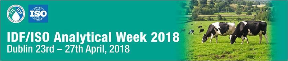 IDF/ISO Analytical week 2018 in Dublin, Ireland